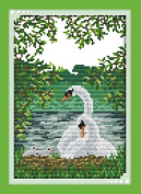 CaptainCrafts Hot New Releases Cross Stitch Kits Patterns Embroidery Kit - White Swan