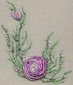 Bullion Rose - Edmar kit #1226, Brazilian embroidery KIT, Black Fabric