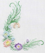 Small Sampler - EdMar kit #1036, Brazilian embroidery KIT, Cream Fabric