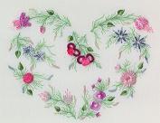 Carol's Heart - Edmar kit #1020, Brazilian embroidery KIT, White Fabric