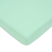 American Baby Company 100% Cotton Value Jersey Knit Crib Sheet, Mint