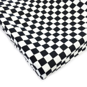 One Grace Place Teyo's Tyres Changing Pad Cover Checkers, Black/White
