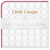 SwaddleDesigns Ultimate Swaddle Blanket, College of Charleston/Little Cougar/Strawberry