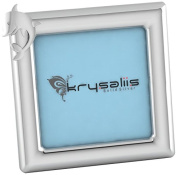 Krysaliis Sterling Silver Dolphin Square Frame