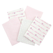 Gerber 100% Cotton Receiving Blankets, Pink Flannel, 5 Count