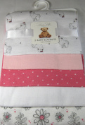 Rene Rolfe 5 Pk.Soft Flannel Baby Girls Receiving Blankets 100% Cotton Pinks