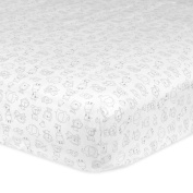 Gerber 100% Cotton Fitted Crib Sheet, Animal