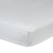 Gerber 100% Cotton Fitted Crib Sheet, Grey Dots
