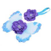 Newborn Girls Pretty Butterfly Wings Headband Costume Photo Photography Prop Outfits