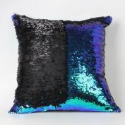 Fullkang Double Colour Glitter Sequins Throw Pillow Case Cafe Home Decor Cushion Covers 40cm*40cm