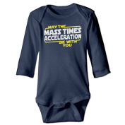 Infant May The Mass Times Acceleration Be With You Cute Baby Onesie Bodysuit