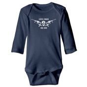 Infant Live Free Or Die, Don't Treat On Me Cute Baby Onesie Bodysuit
