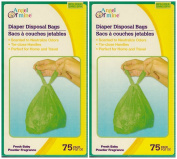 Baby Powder Scented Nappy Disposable Bags 150 ct // Put an end to stinky nappies! These lightly baby-powder-scented bags have tie-close handles for sanitary and convenient disposal of dirty diapers718913233