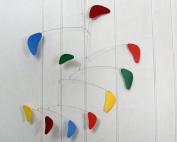 Baby Mobile / Rainbow Mobile / Kinetic Sculpture / Hanging Mobile / Handmade USA / Calder Inspired / Rang Style