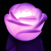 Gilroy 1x Romantic 7 Colour Changing LED Floating Rose Flower Candle Night Light