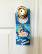 Baby Sleeping Sign Door hanger to Prevent Knocking on the Door Stopping Salesman Hangers