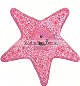7.6cm Peach Star Fish Starfish Finding Nemo 2 Movie Removable Peel Self Stick Wall Decal Sticker Art Bathroom Kids Room Walt Disney Pixar Home Decor Boys Girls 8.3cm wide by 8.3cm tall