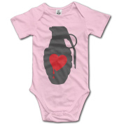 Infant Love Grenade Ted Cute Baby Onesie Bodysuit