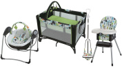 Bear Trail Collection - On The Go Playard, Highchair, Bumper Jumper & Baby Swing