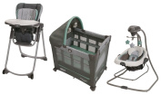 DuetConnect LX Swing + Bouncer with Travel Lite Crib & Highchair