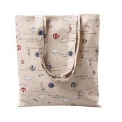 Flowertree Women's People And Thing Print Canvas Tote Bag
