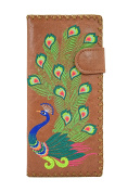 Lavishy Sacred Peacock Embroidered Large Wallet