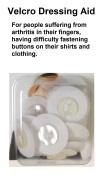 Sportoli® Patented Button Hook Finger Arthritis. Dressing Aid Help Tool