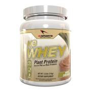 No Whey! Plant Based Protein Powder. Vegan Friendly Organic Pea and Rice Protein. All Natural. No Artificial Flavours No Artificial Sweeteners 20 Serving Tub Chocolate Flavour By AI Sports Nutrition