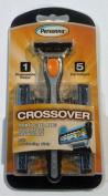 Crossover Triple Blade Razor; 1 Disposable Razor, 5 Cartridges