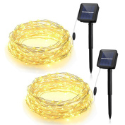 Mpow Solar String Lights, 10m 100LED Outdoor String Lights, Waterproof Decorative String Lights for Patio, Garden, Gate, Yard, Party, Wedding, Christmas