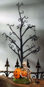 Bethany Lowe Haunted Halloween Tree with Skeleton and Pumkin Base 60cm Tall