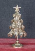 Metal Ribbon Iridescent Glitter Christmas Tree Tabletop Decoration