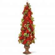 National Tree 90cm Berry and Holly Leaf Pagoda Tree
