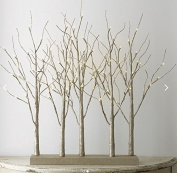 Trees Lighted Glittered Grove of 5 Trees 80cm