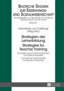 Strategien der Lehrerbildung / Strategies for Teacher Training