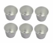 Astra shop Set of 6 Nonstick Individual Tumblers Popovers| Chocolate Molten Pans| Pudding Cups| Raspberry Souffle Pot| Darioles Ramekins Brownies Mould - Size 7.6cm