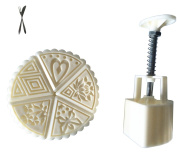 Father.son China's Mid-Autumn Festival Moon cake mould DIY tools set