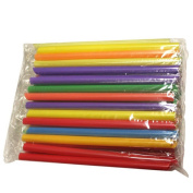 50pcs Drinking Straws,Morecome Multicolor Straight Drinking Straws Bar Party Drink Straw