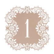 YUFENG Wedding Table Card Numbers Lace Table Cards for Wedding Reception Party Favours