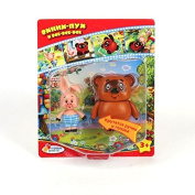 Russian Winnie the Pooh and the Piglet Plastic Toy Set