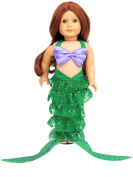 Mermaid Outfit | Fits 46cm American Girl Dolls, Madame Alexander, Our Generation, etc. | 46cm Doll Clothes