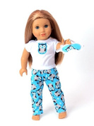 Hoot, Hoot Pyjamas | Fits 46cm American Girl Dolls, Madame Alexander, Our Generation, etc. | 46cm Doll Clothes
