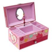 SONGMICS Ballerina Music Jewellery Box for Little Girls, Swan Lake Tune Pink UJMC002