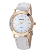Tenworld Geneva Watch Women Diamond Analogue Leather Quartz Wrist Watches