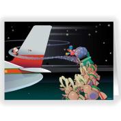 Funny Aeroplane Christmas Card - 18 Cards & Envelopes - Aviation Cards