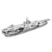 Fascinations ICONX USS Roosevelt CVN-71 Aircraft Carrier 3D Metal Model Kit