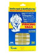 Jewellery Price Tags - Rectangle Gold (1000-Pcs) Jewellery Display