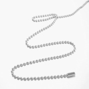 GWHOLE 24 Inches Nickel Plated Ball Chain Necklace 2.4mm Size #3,Pack of 50