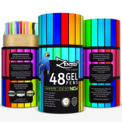 Gel Pens, 48 Ink Color Set