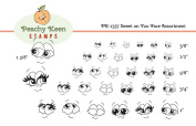 PK-1357 Sweet on You, Peachy Keen Stamps Clear Face Assortment